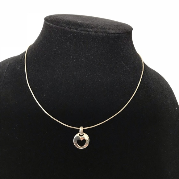 50d6a7e3a Tiffany & Co. Jewelry | Tiffany Co Heart Stencil Necklace | Poshmark